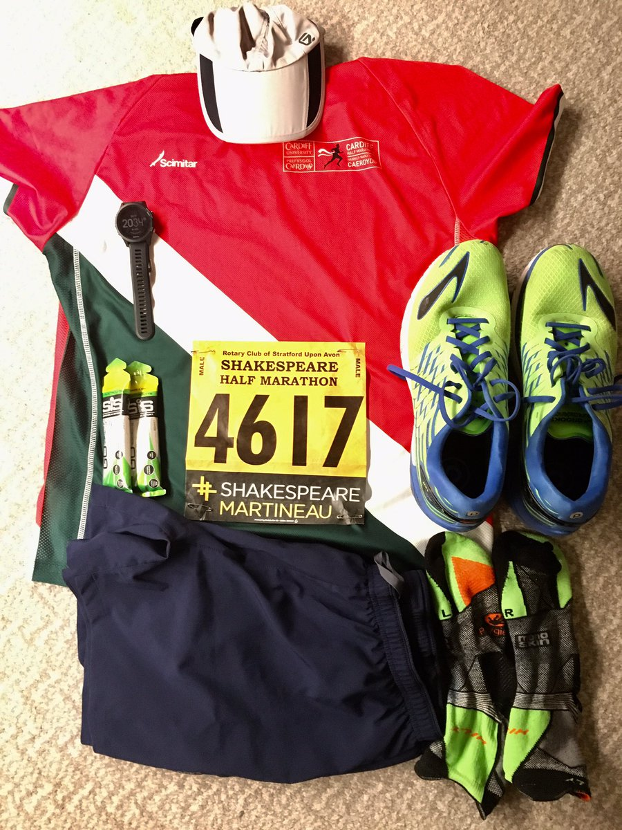 Shakespeare's birthday celebrations today, @Shake_Marathon tomorrow, what could be finer! Although I have decided it's T-shirt not vest weather. #kitshot #runningpic.twitter.com/EtnEAhJUUp