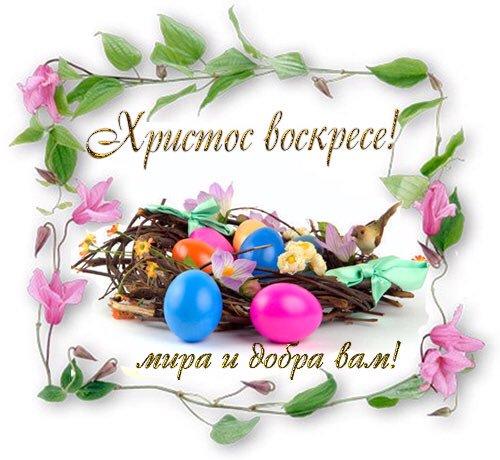 Пасха поздравления картинки красивые воистину воскрес