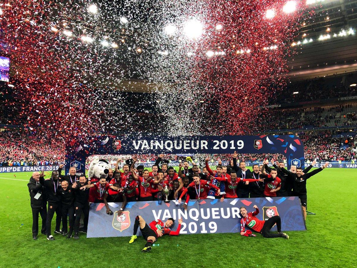La Coupe de France pour le @staderennais ! 🏆 🔴⚪️