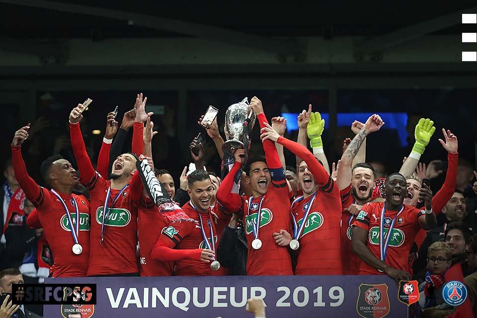 Stade Rennais Coupe de France 2019 victoire photo Ouest MEDIAS