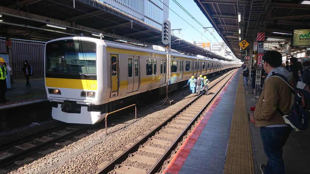 中央線の吉祥寺駅で人身事故が起きた現場の画像