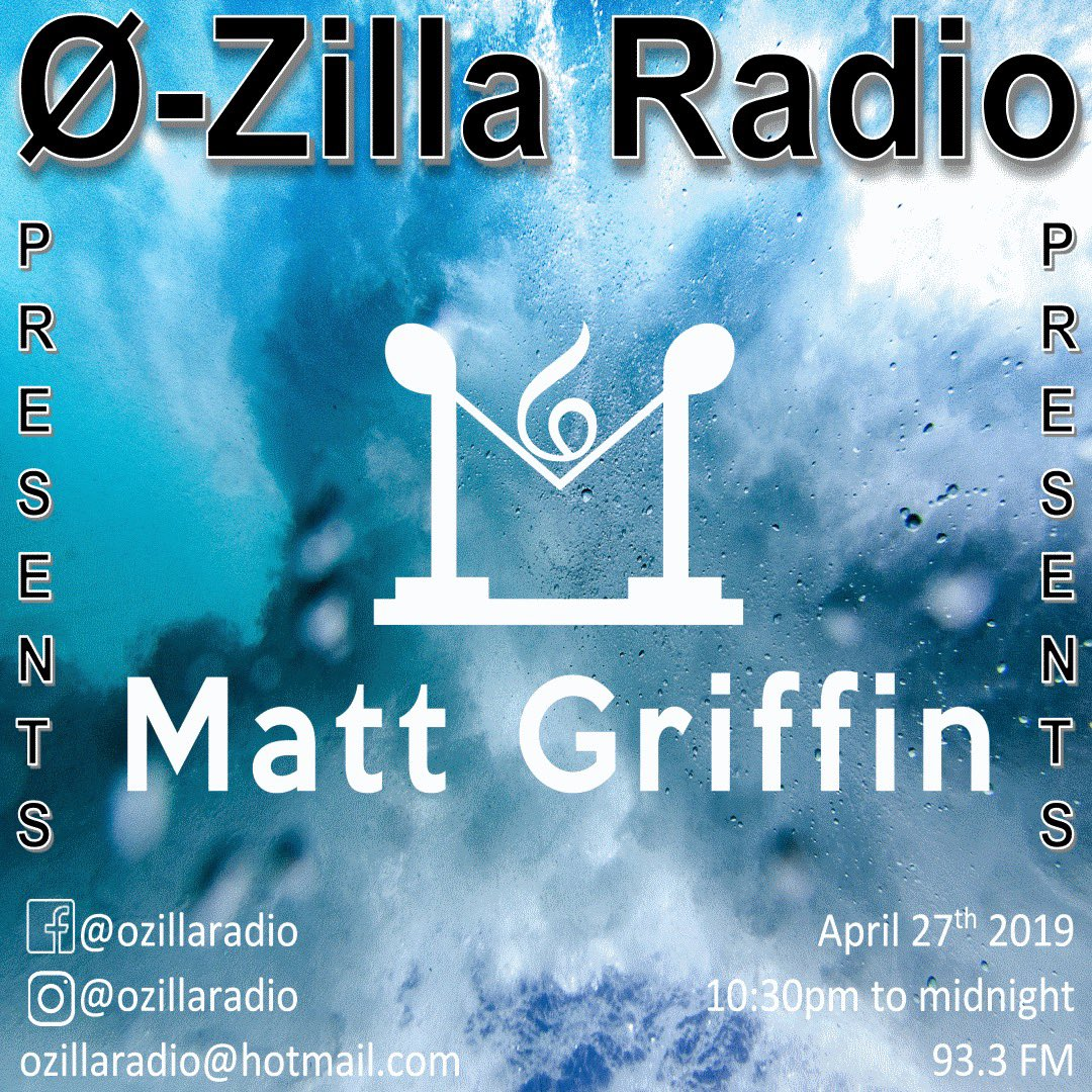 We are just a few hours away from having #MattGriffin in the studio for a interview and live studio mix #ozillaradio https://t.co/EiNWT9FBH4