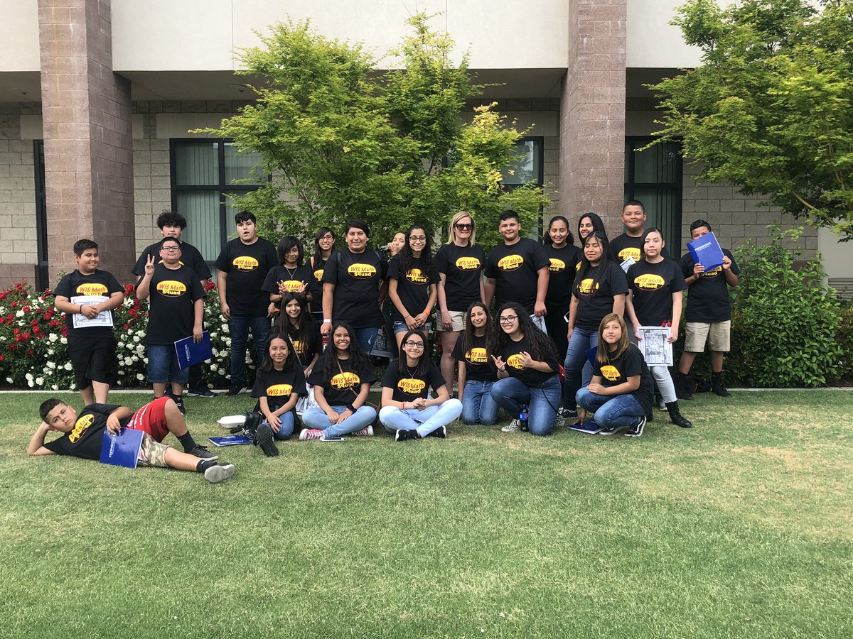 These kids worked hard and had a fun day at Math Field Day @Fresno_State. 60% of our team is made up of girls. Thanks @charicey34 for coming out to support us. #mathgals #mathfieldday #YouWishYouWereaTbird @MathState @WISDinuba