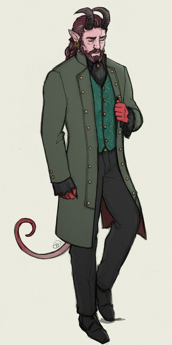 Looking very dapper ~Savos Nevermind, my Tiefling warlock
