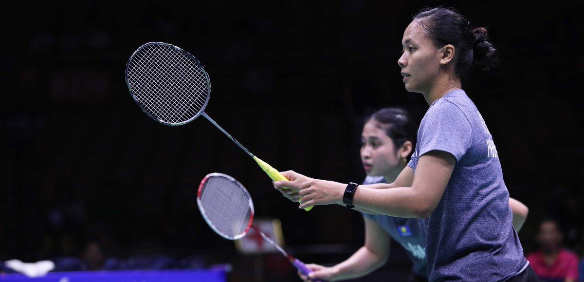 Badminton Asia Championships 2019) Rizki/Della Terhenti di