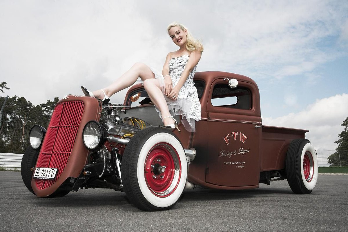 Sexy Woman With Hot Rod Stock Photos, Images Photography