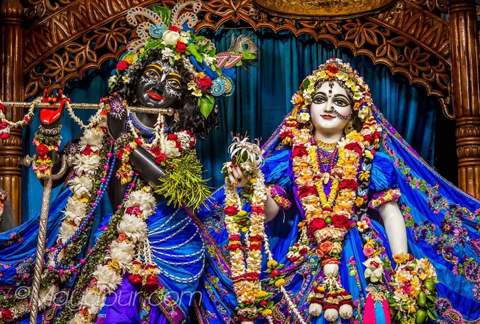 Darshan of Sri Radha -Madhava, AstaSakhis, Sri Panca tattva and Sri Narasimhadeva at ISKCON Mayapur, 28th April 2019. For more darshan pictures, visit https://t.co/EKLpvMoQjB https://t.co/zvm9FW54UG