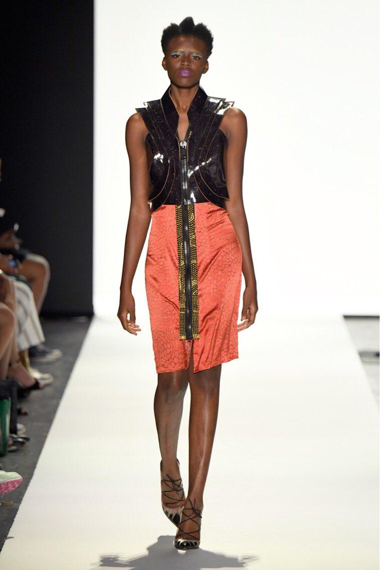 Throwback to another #couture collection #nyc #runway #look #style #fashion #fashionweek #model #black #red #dress #vest #catwalk #newyork #bigapple #couturefashion #coutureforeverybody #designer #collection #dressingthesoul #johnydar #wherethefuturestarts