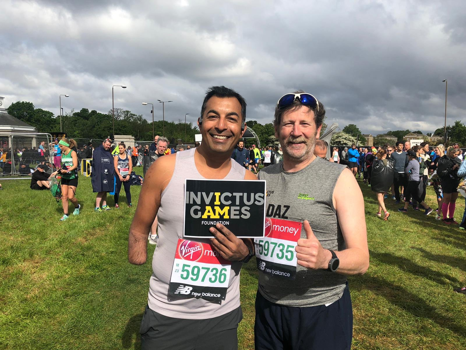 Ibi and Daz run London Marathon 2019