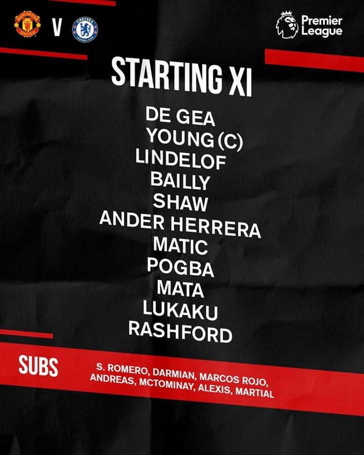 Nice to see @AnderHerrera back ! Positive feeling about today's midfield! #ManchesterUnited https://t.co/UVpjZ0IsHd