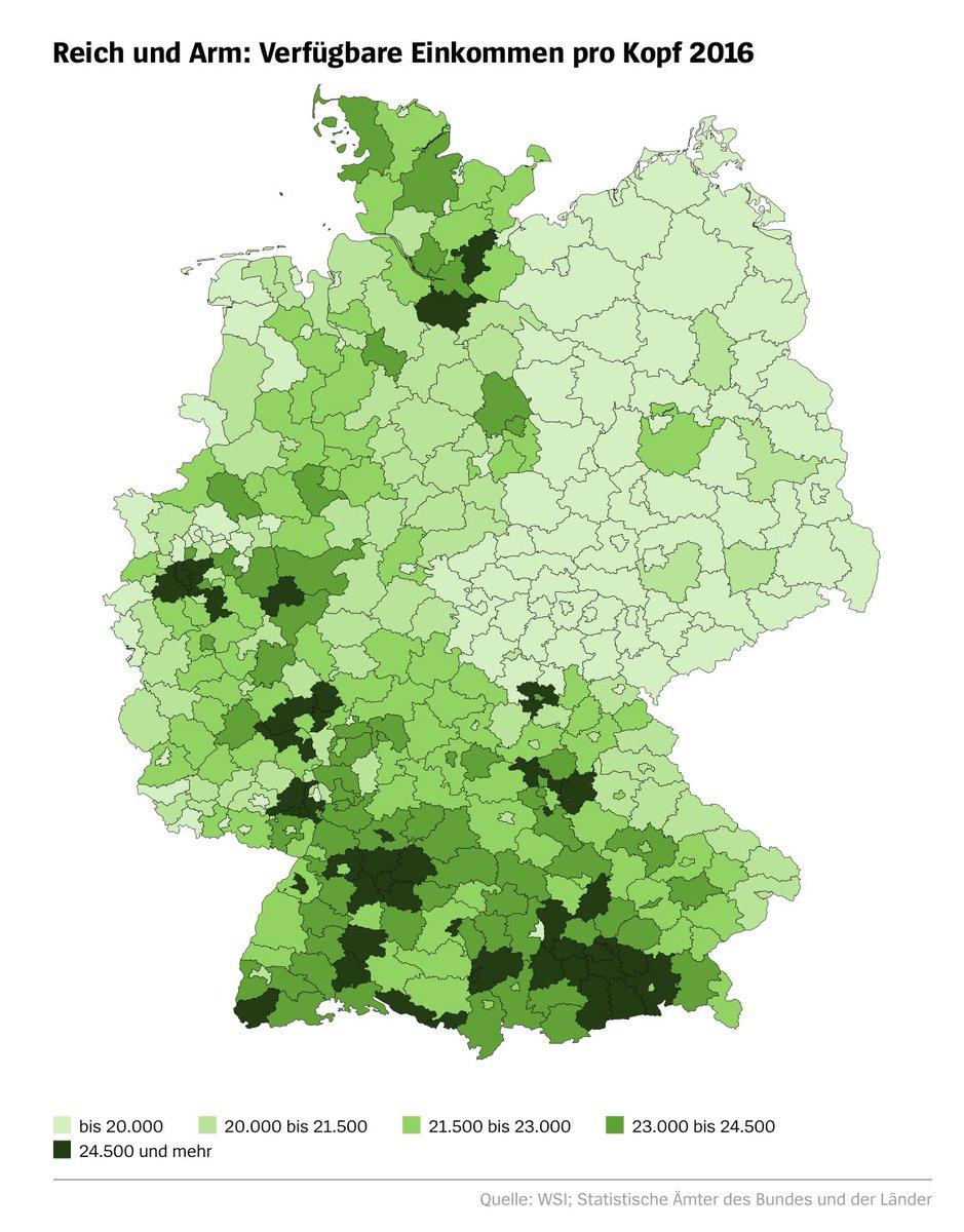 Map Of Germany Lander.Marcel Fratzscher On Twitter Regional Inequality In Germany Is