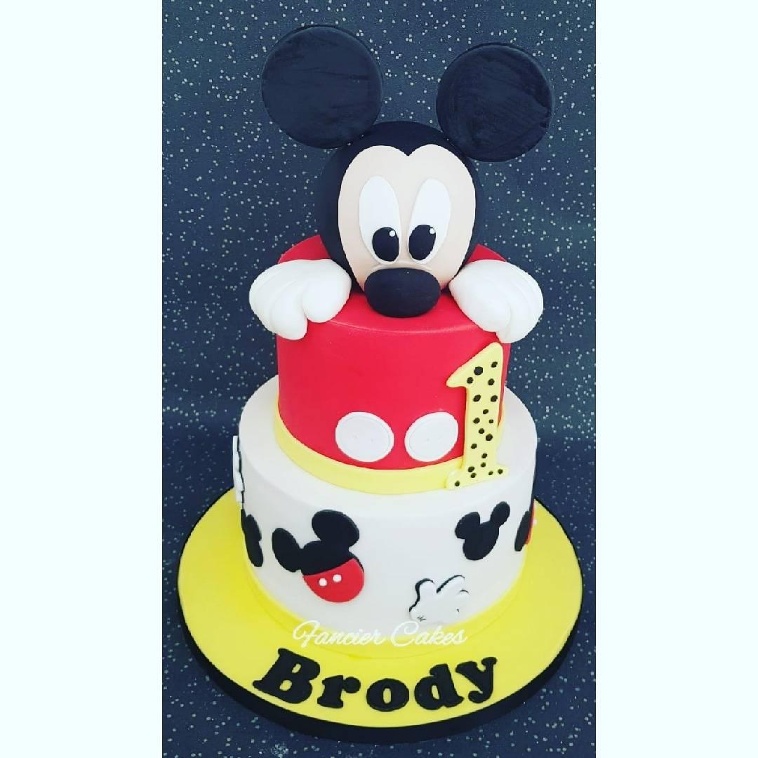 Phenomenal Fancier Cakes Auf Twitter Gorgeous Mickey Mouse Themed Birthday Funny Birthday Cards Online Unhofree Goldxyz