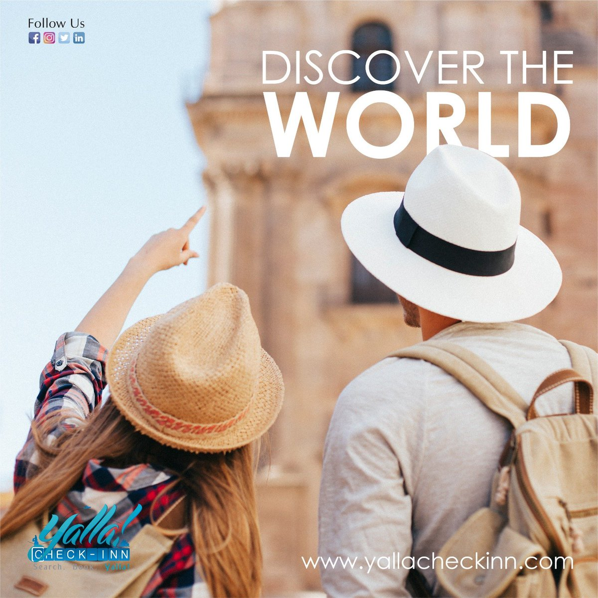 #Discover the #World with  #YallaCheckinn  #BOOK #HOTELS & #FLIGHTS Amazing #Rates & #Fares https://t.co/0V6XYVCEMM