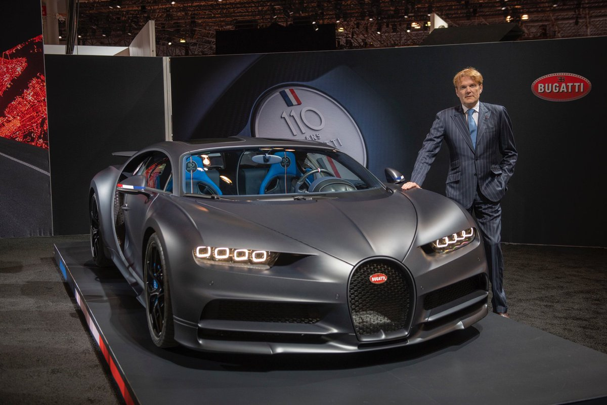 "Bugatti America COO Maurizio Parlato confirmed the great success of the Bugatti Chiron Sport ""110 Ans"" at the NY Auto Show: ""It was the first time this car was shown in America and it received huge appreciation. We got many requests, but the limited edition is already sold out."""