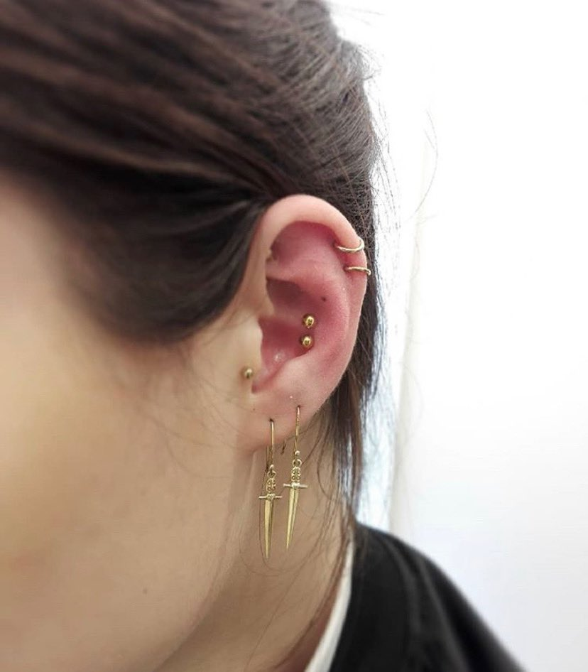 Metal Morphosis On Twitter Double Conch Piercing By Angie