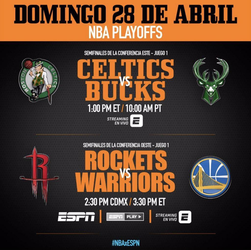 Doble tanda #NBAPlayoffs #NBA #NBAxESPN !!!  Los esperamos !!! https://t.co/3ehPeqxy6Y