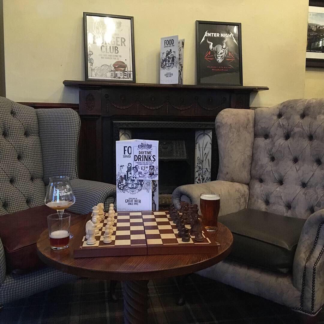 Come play some chess and have a cracking pint at the same time! Vintage games and ale night #headofsteamhuddersfield #vintagegames #caskales #realale #sundaynightdoneright