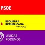 No digo nada, pero la coalición de izquierdas dibuja una bandera republicana... #EleccionesL6