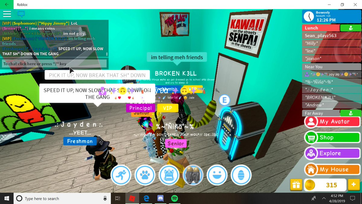 Roblox Id Yeet Robloxian High School On Twitter Our Next Update Will Also Be Very Focused On Making The Game More Fun Run And Work Better Stay Tuned