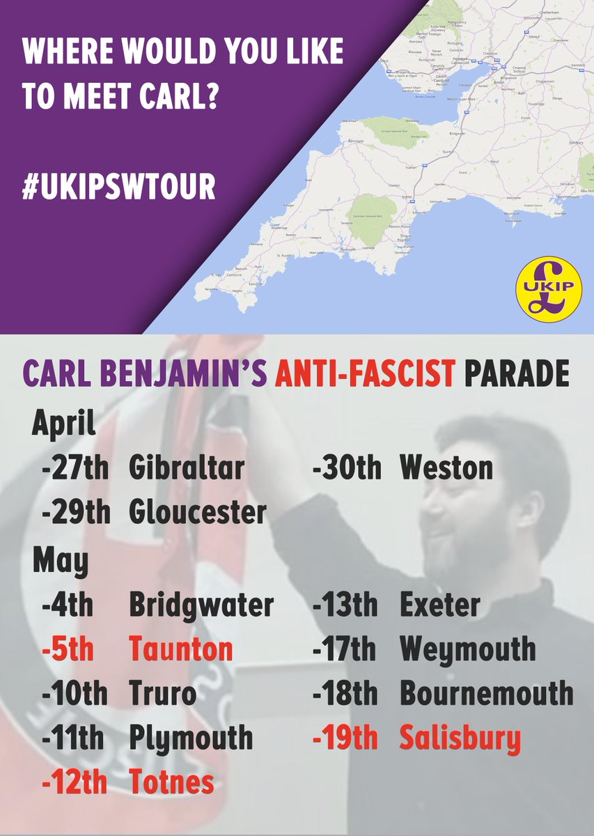 Meet the man behind the smears! Open invitation for debate. @CarlUKIP #UKIPSWTour