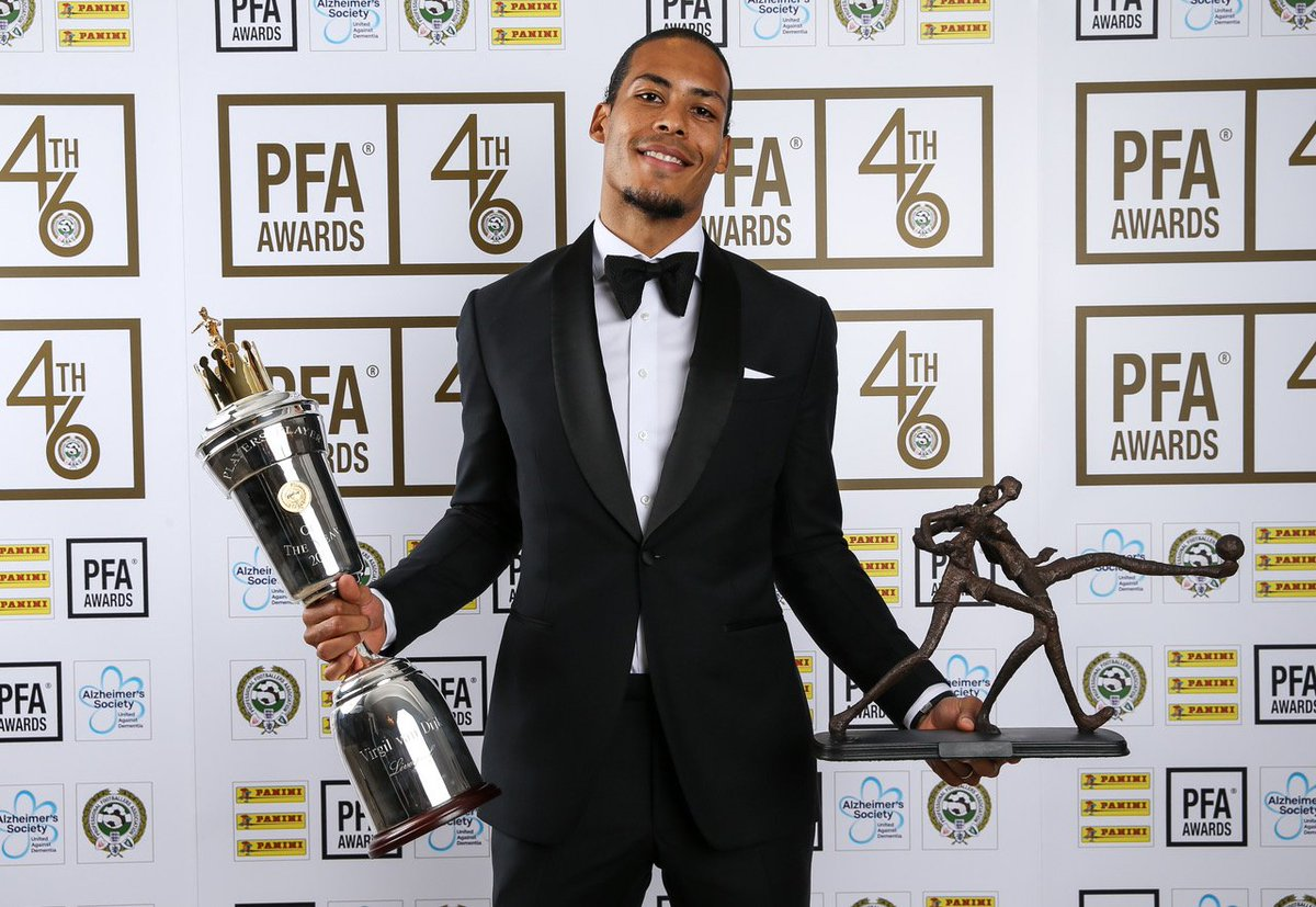 Congratulations, VVD! 🙌   @VirgilvDijk has been named as the @PFA Players' Player of the Year. 👏 #PFAawards