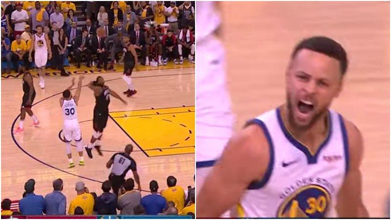 【影片】雖遲但到! 關鍵時刻Curry命中絕命三分  怒吼宣洩一整場的壓抑!