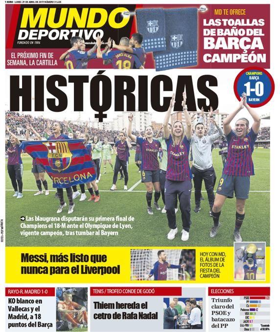 ترجمة غلاف صحيفة موندو ديبورتيفو الكتلونية 29-04-2019 D5Rm02xXsAEy93T
