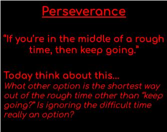 #Persevere #BeACardinal #PutAMissionIntoMotion