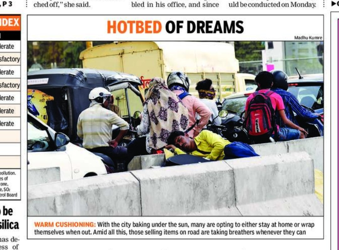 Pic clicked by Madhu Kumre published in today's Nagpur Times page 1 and Maharashtra Times  @timesofindia  @TOIIndiaNews  @TOI_Nagpur  @SunilWarrier1  @wordsmith01  @PIBMumbai @mtdc_official @mataonline @micnewdelhi #Nagpur #summer #heatwave #SmartCity #SmartCities #BeingHuman