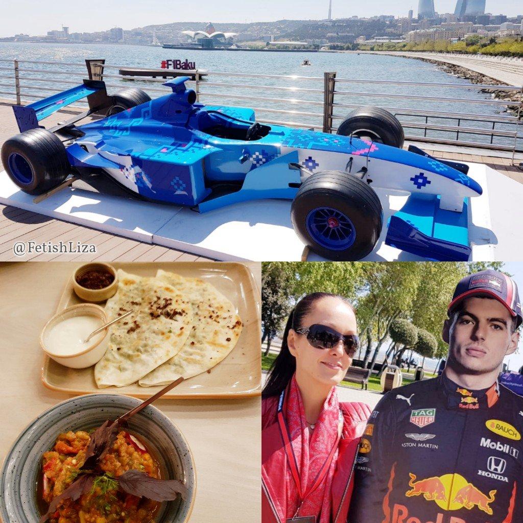 Adrenaline and amazing food 🏎 😋 Had a fabulous few days in Azerbaijan #AzerbaijanGP #Formula1 #needforspeed