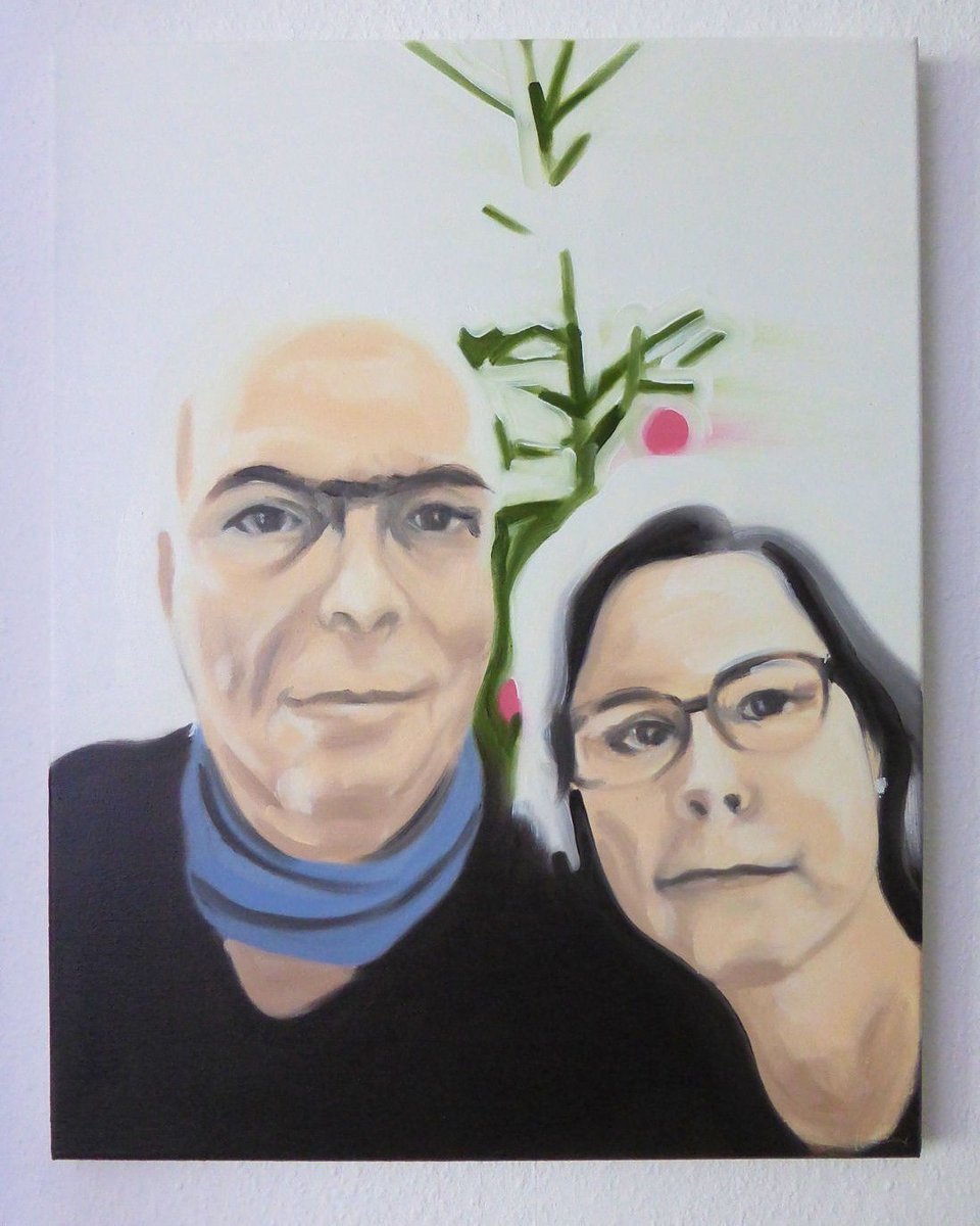 "Painted celebrity ""You and me 03, Angelika"", oil/can, 50x40cm 2019. #art #artwork #Painting #malerei #kunst #Selfie #Promiselfie #dortmund  Http://instagram.com/eckhardbremerpic.twitter.com/2ZL7SOK1U5"