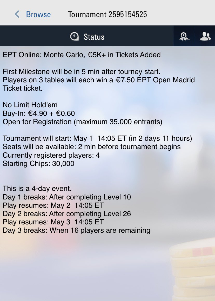 Plus, we're inviting you to play the 'EPT Online'...