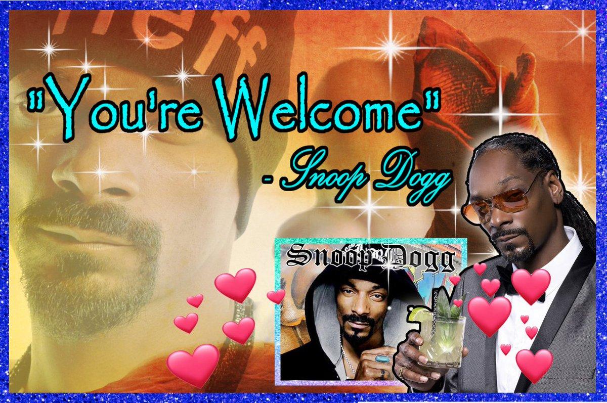 thank you snoop dogg