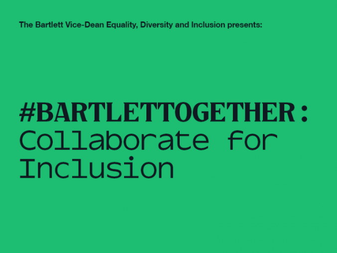 Tomorrow, join this Bartlett Equality, Diversity and Inclusion Group workshop to explore how collaborative methodologies can be harnessed to help bring about greater workplace inclusion.  Find out more: https://bartlett100.com/events/detail/bartletttogether-workshop-collaborate-inclusion… @BartlettUCL #Bartlett100 #BartlettTogether