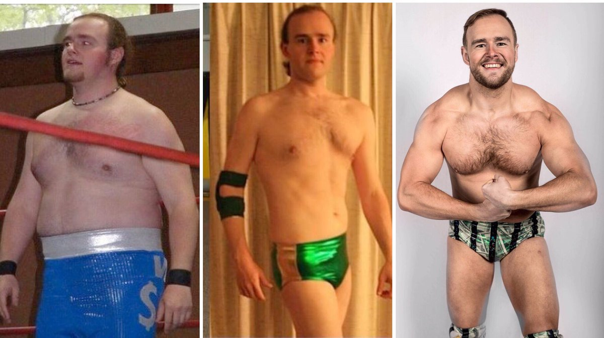 #mondaymotovation Left-to-right: 2008/295 lbs., 2011/195 lbs., 2019/220 lbs. #fitness #wrestler #handsome<br>http://pic.twitter.com/0OIdp8s5pe