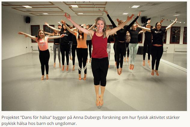 """Dans kan fungera som komplement till samtal och medicinering för unga med stressrelaterad psykisk ohälsa. Nu är Anna Dubergs projekt """"Dans för hälsa"""" nominerat till Guldskalpellen, priset som Dagens Medicin delar ut till årets förnyare inom sjukvården. https://www.oru.se/nyheter/anna-duberg-kan-vinna-guldskalpellen/…"""