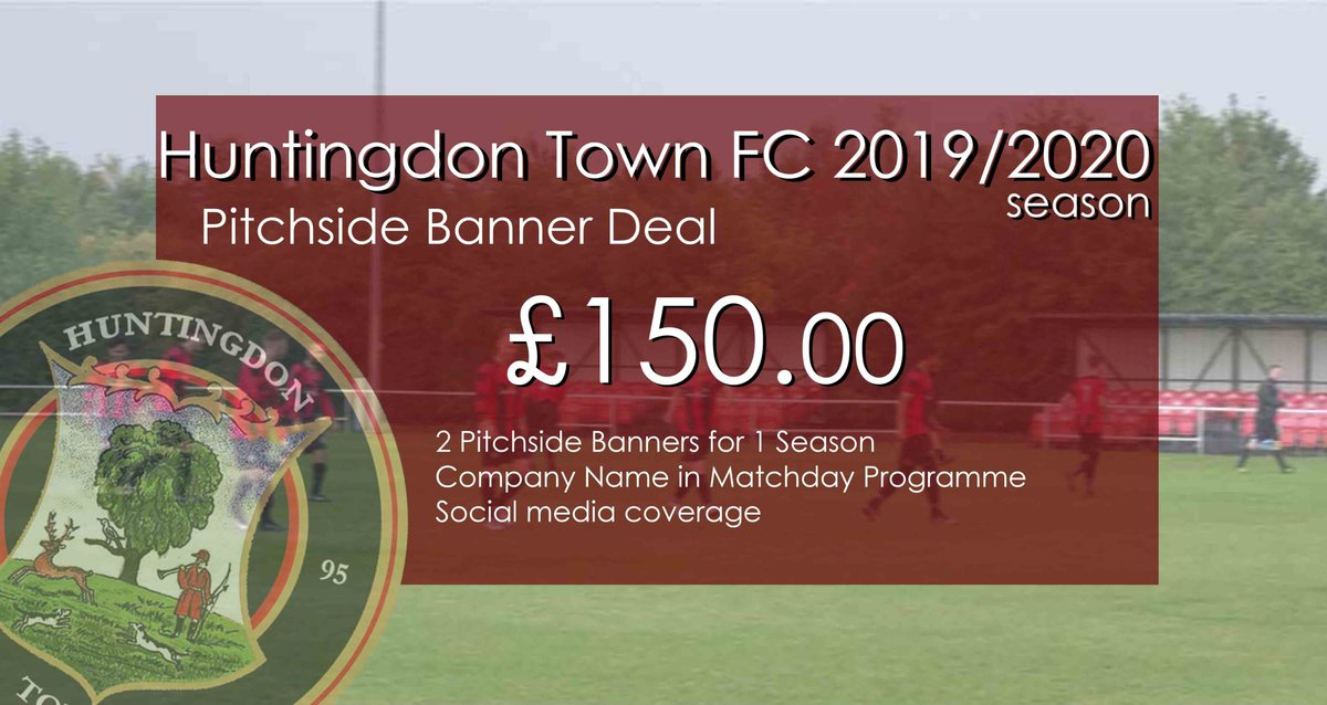With our season now over, its time to start looking towards the upcoming 2019/20 season. These are just some of the options on how you can be involved with HTFC. Why not drop us a  DM on here or contact us on Club@huntingdontownfc.com https://t.co/NC3M816tG9