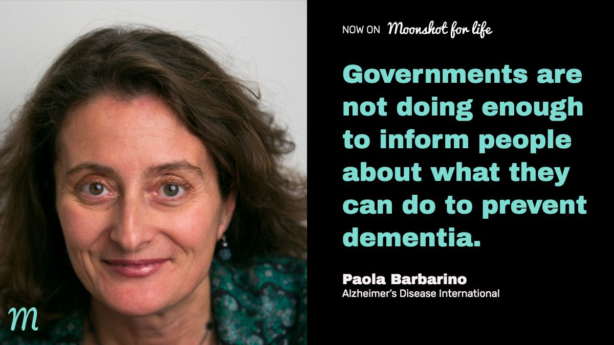 Governments are not doing enough to inform people about what they can do to prevent #dementia #Alzheimers says @PaolaBarbarino of @AlzDisInt https://t.co/0RS3wpKTDo https://t.co/eRWxbdqaFe