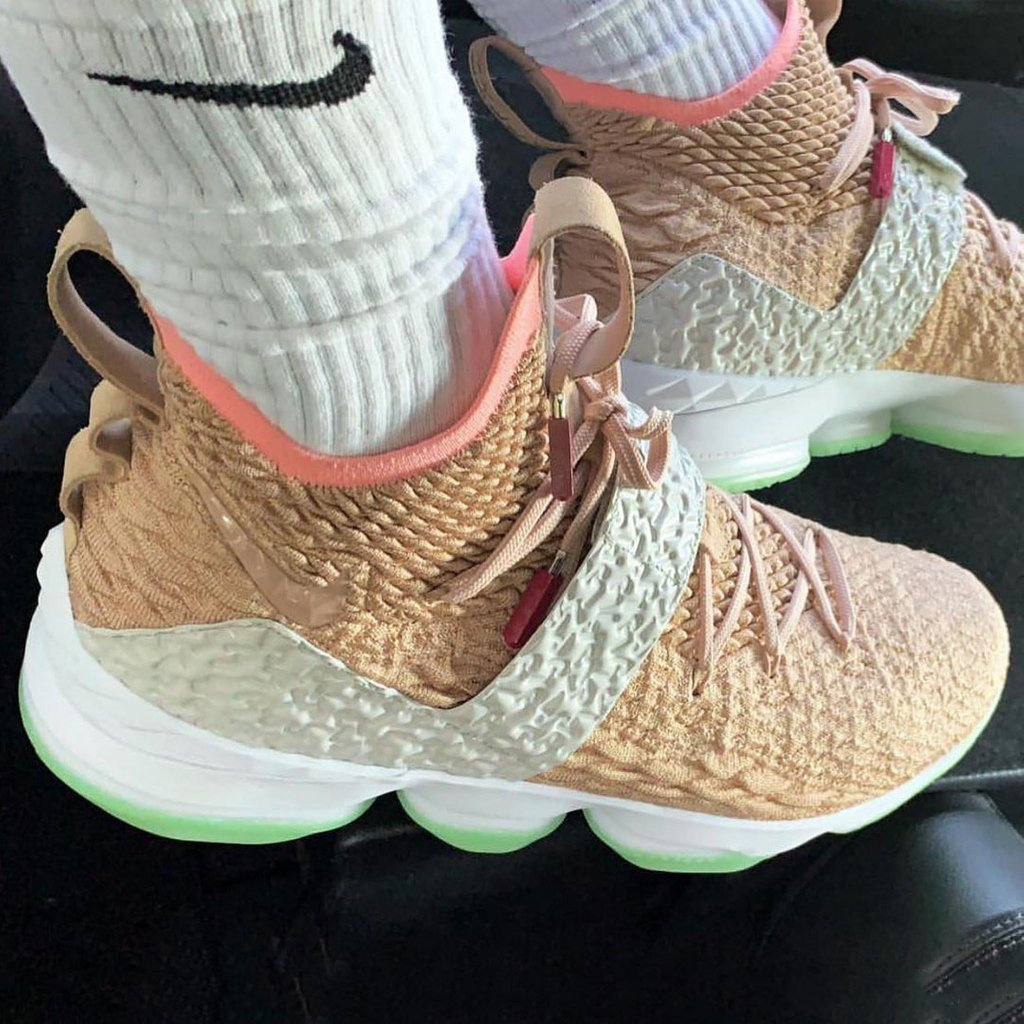 115a2a76d damn kingjames pulls up in the nike lebron 15 x air yeezy 1 more info