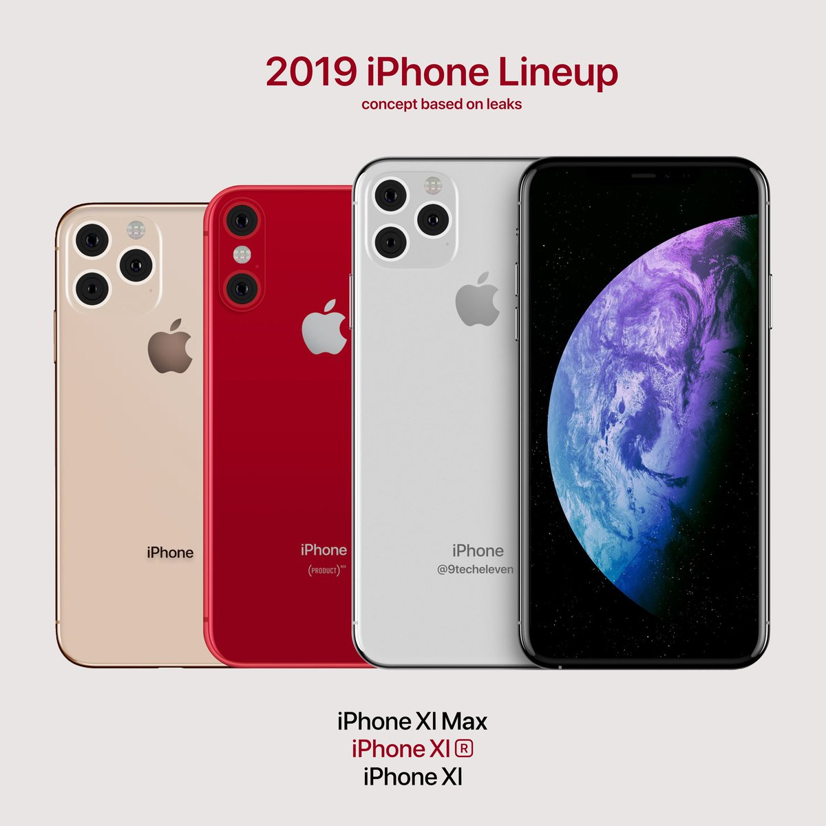 9techeleven Pa Twitter 2019 Iphone Lineup Concept With