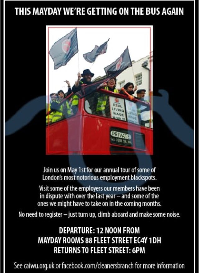✊Join Us on the Mayday Bus once again⚡️ Following the success of last years bus tour, this year well be doing it all over again. So drop whatever you were planning for May 1st and join us on the bus. 🚍🚩 More info here: m.facebook.com/events/1726657…