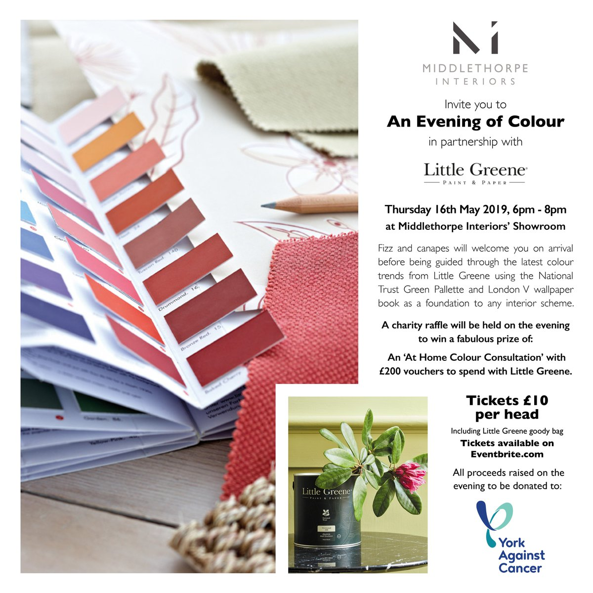 ... @LittleGreene . All proceeds from this event will go to @YorkAgainstCanc Tickets available here: (link: https://mi-aneveningofcolour.eventbrite.co.uk/ ...