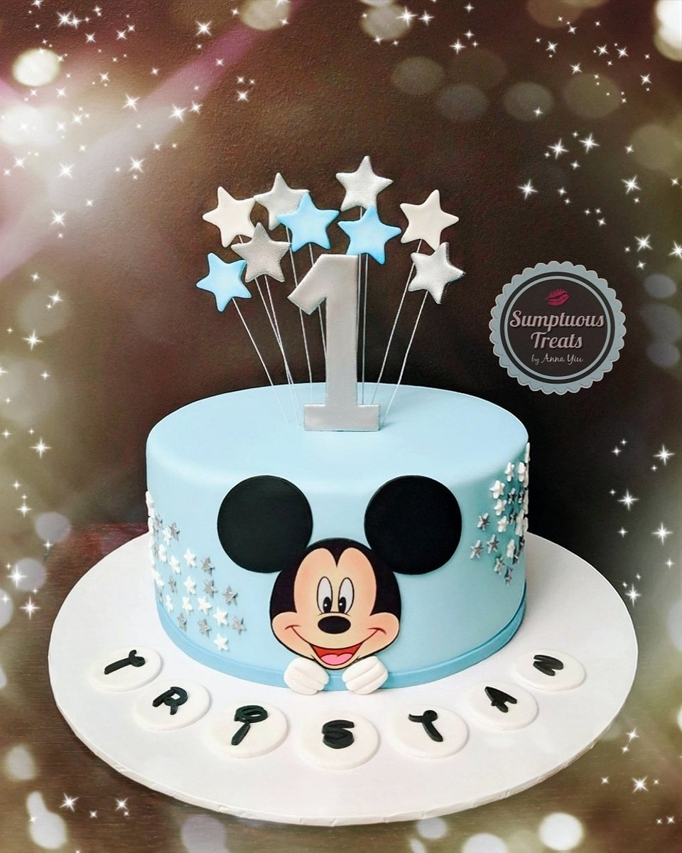 Excellent Sumptuous Treats On Twitter Mickeys First Birthday Cake Funny Birthday Cards Online Fluifree Goldxyz
