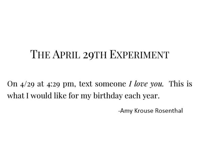 Today would have been Amy Krouse Rosenthal's 54th birthday!