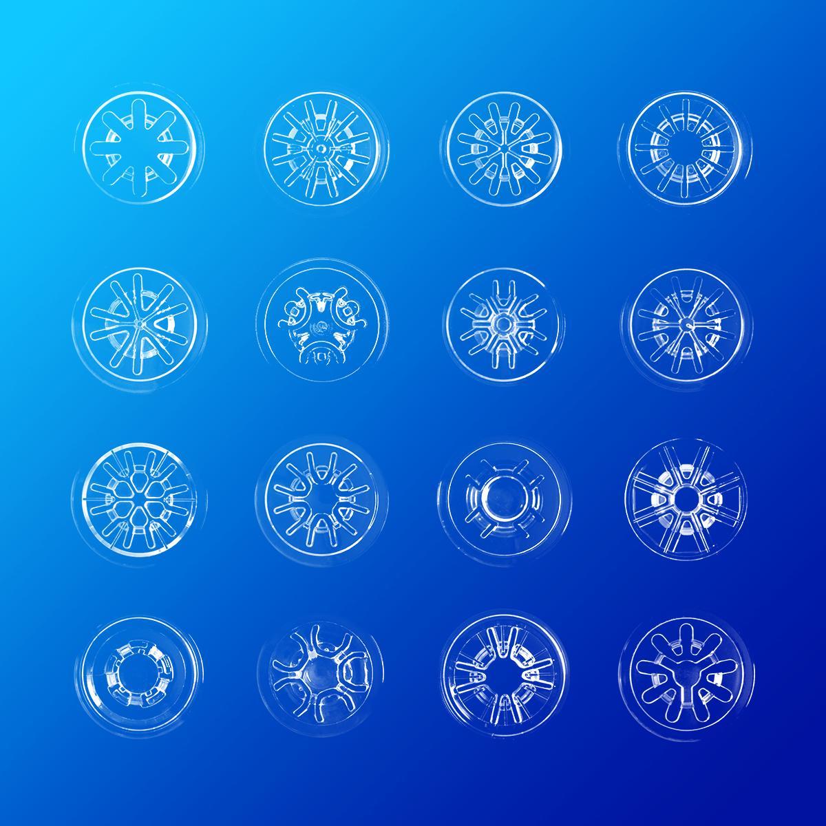 CDケースのツメっていろんな形があって面白い。こうやって並べると雪の結晶みたい。