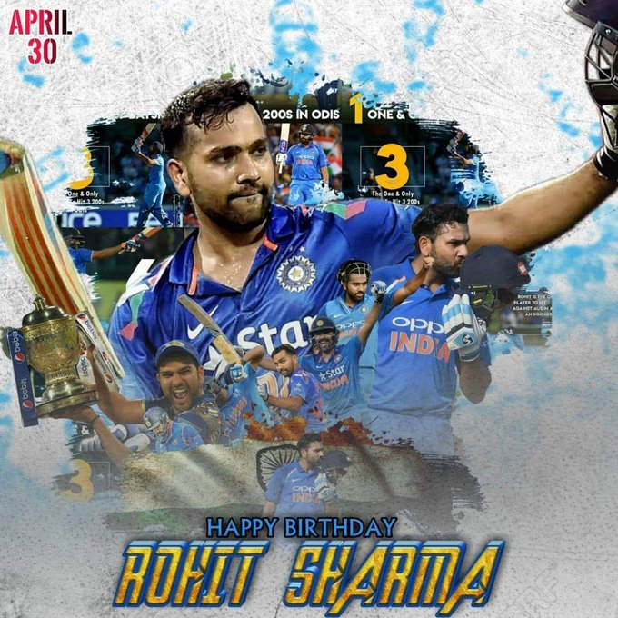 You Inspire You Entertain You Teach  Happy Birthday Rohit Sharma !!!