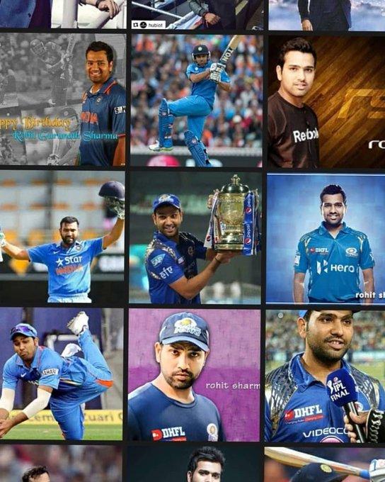 Happy birthday Rohit sharma my favorite  player