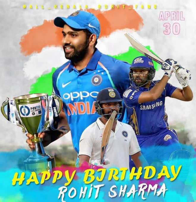 HAPPY BIRTHDAY ROHIT SHARMA SIR JI