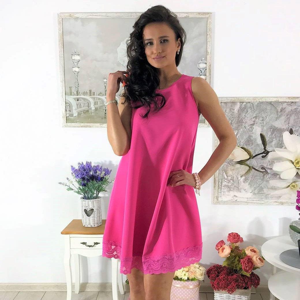 e5be47787 Piękna trapezowa sukienka ozdobiona koronkę w super cenie 79,99 zł 💋🤩  ZOBACZCIE INNE