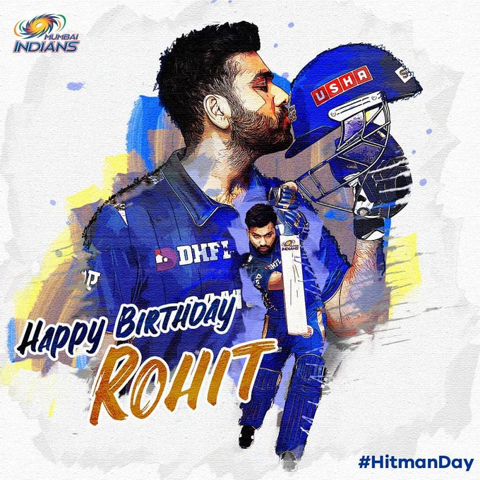 Happy birthday Hitman Rohit Sharma  You are greatest player in the world.